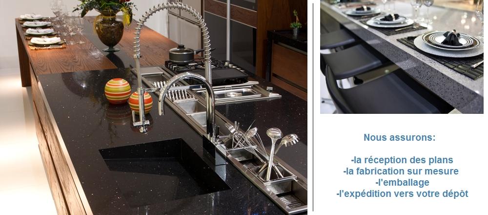 Quartz production plan de travail de cuisine en quartz for Prix cuisine sur mesure